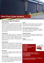 Hand Chain Roller Shutters - 1