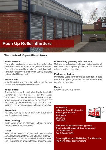 Push Up Roller Shutters
