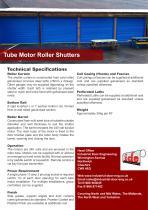 Tube Motor Roller Shutters - 1
