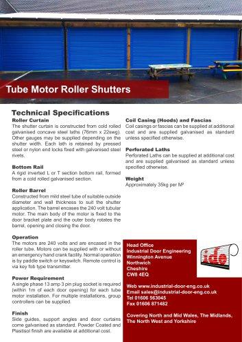 Tube Motor Roller Shutters