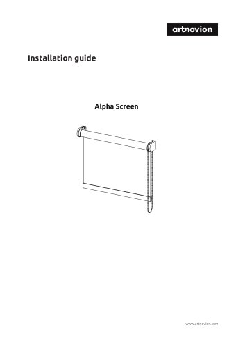 Installation guide Alpha Screen