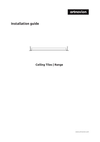 Installation guide Ceiling Tiles | Range