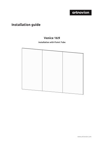 Installation guide Venice 16:9