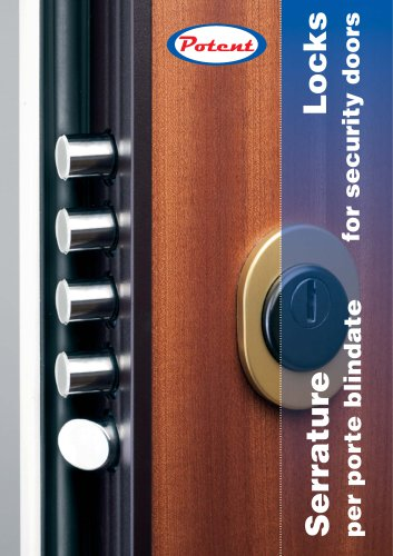 Serrature per porte blindate. Locks for security doors