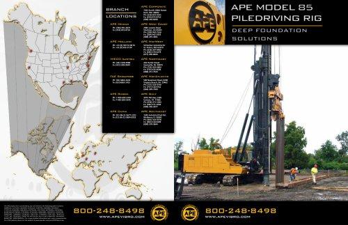 APE MODEL 85 - American Piledriving Equipment Inc  - PDF