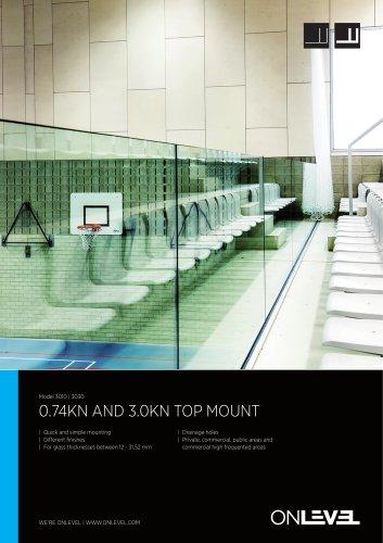 0.74kN & 3kN Frameless Glass Balustrade TL3010/3030