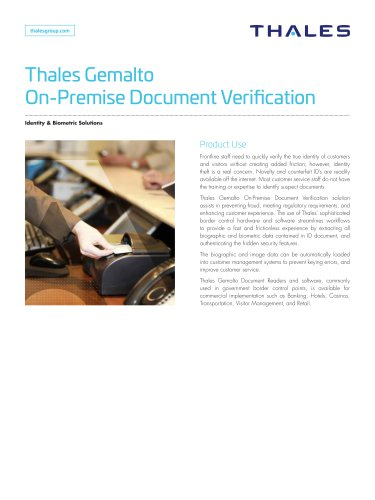 Document Verification In Branch
