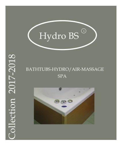 Collection 2017-2018 - BATHTUBS-HYDRO/AIR-MASSAGE SPA