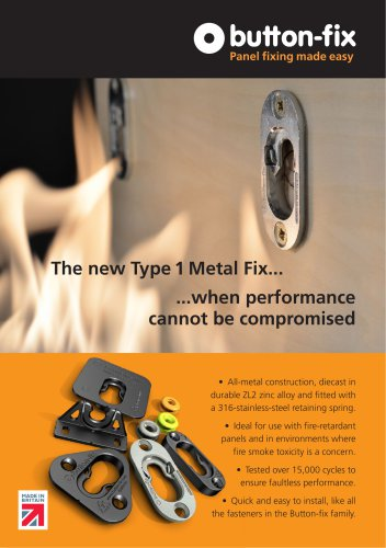 NEW Button-fix Type 1 Metal Information Flyer