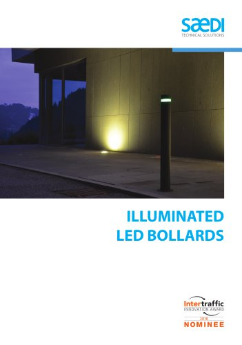Led flexible steel bollard. Flexylight