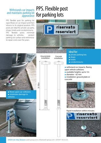 PPS. Flexible post for parking lots