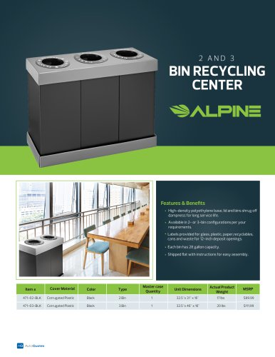 2 AND 3 BIN RECYCLING CENTER