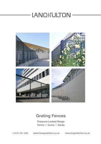 Grating Fences Pressure-Locked Range Torino I Como I Garda
