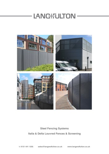 Steel Fencing Systems - Italia & Delta Louvred Fences & Screening