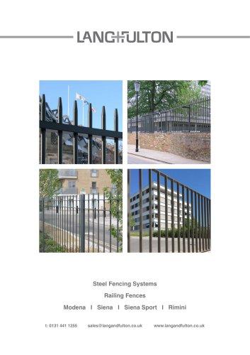 Steel Fencing Systems - Railing Fences Modena I Siena I Siena Sport I Rimini