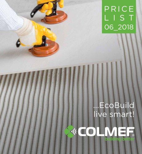 Price List COLMEF 2018