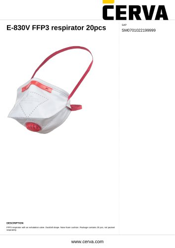 E-830V FFP3 respirator