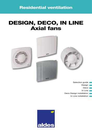 DESIGN, DECO, IN LINE Axial fans