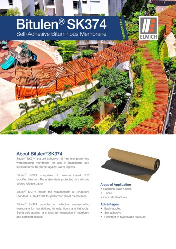 Bitulen® SK374 Self-Adhesive Bituminous Membrane