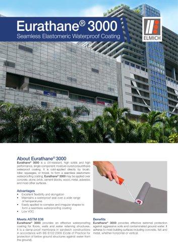 Eurathane® 3000 Seamless Elastomeric Waterproof Coating