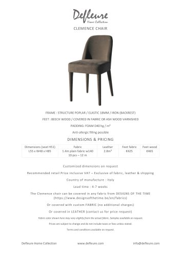 CLEMENCE CHAIR