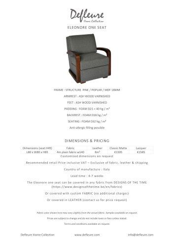 ELEONORE ONE SEAT