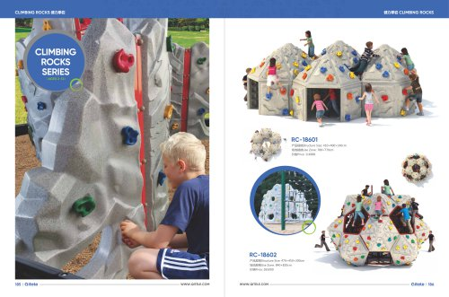 Qitele & playground & climbing structure & Climbing Rocks & Constructed of durable and recyclable materials