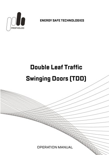 Manual Double-leaf traffic swinging doors (TDD)