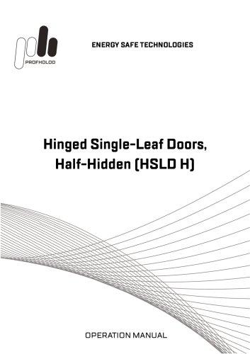 Manual Hinged Single-Leaf Doors Half-Hidden (HSLD_H)