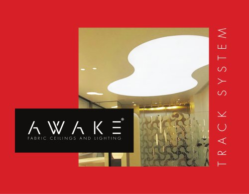 AWAKE Track: PVC Profile System for Fabric Ceilings and Walls