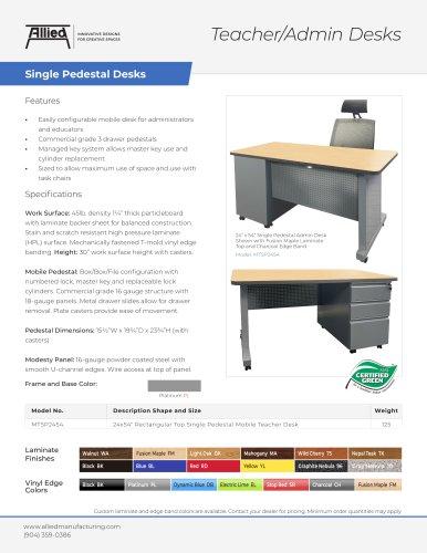 Teacher/Admin Desks