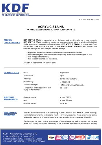 ACRYLIC STAINS