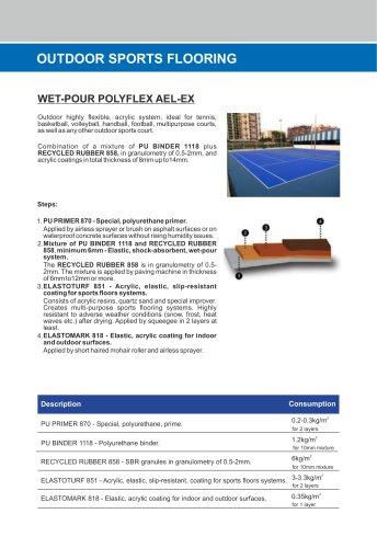 WET-POUR POLYFLEX AEL-EX