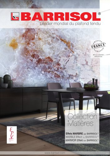 Collection Matières Marble Effect by BARRISOL