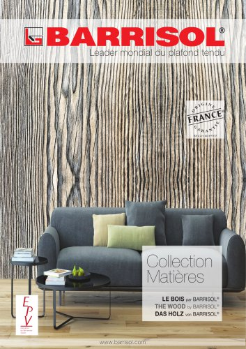 Collection Matières The Wood by BARRISOL