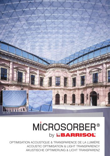 MICROSORBER by Barrisol ACOUSTIC OPTIMISATION & LIGHT TRANSPARENCY