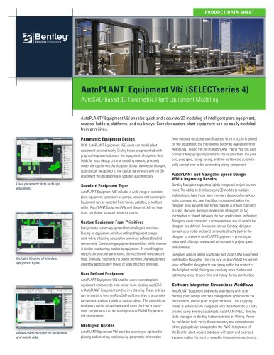 AutoPLANT ® Equipment V8 i Data Sheet