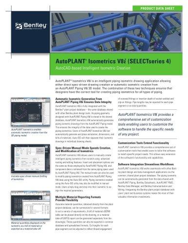 AutoPLANT ® Isometrics V8 i
