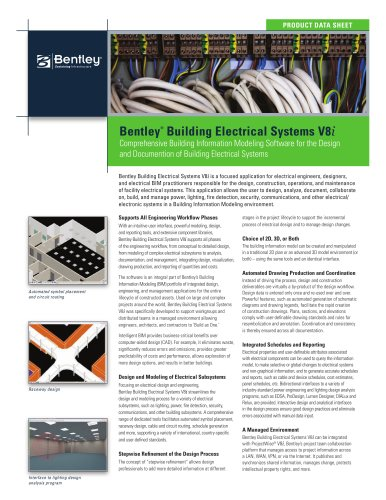 Bentley ® Building Electrical Systems V8 i