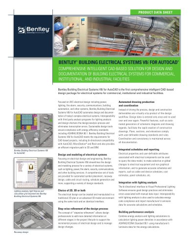 Bentley Building Electrical Systems V8i for AutoCAD