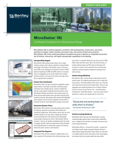 Microstation product data sheet