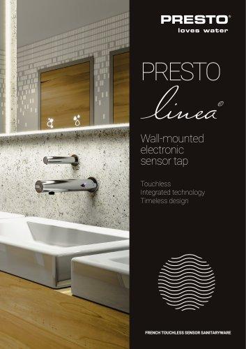 Presto LINEA® - electronic wall sensor tap