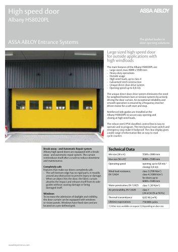 Albany HS8020PL high speed door