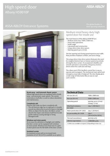 Albany HS9010P high speed door