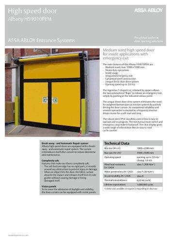 Albany HS9010PEM high speed emergency exit door