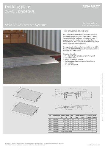 Crawford DP6050HFB dock plate