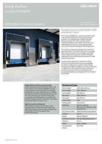 Crawford DS6060A curtain dock shelter aluminium