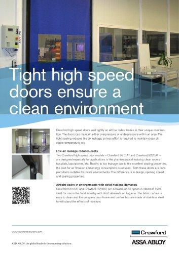 Crawford, High speed doors Airtight