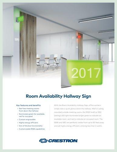 SSW Room Availability Hallway Sign