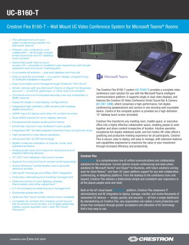 UC-B160-T - CRESTRON - PDF Catalogs | Documentation | Brochures